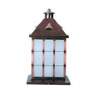Column Mount Lantern Bronze