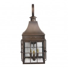 Scroll Mount Lantern Matte Bronze